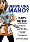 baby sitter - volantino