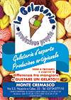 La Gelateria - Monte Cremasco - volantini soffiata Crema