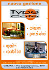 Type cafe - volantini soffiata crema