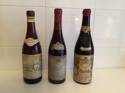 Pregiate bottiglie Barolo