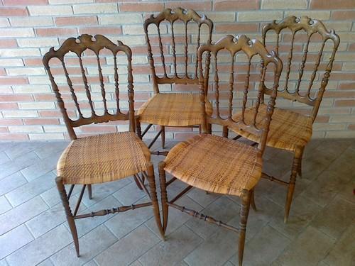 Sedie Chiavarine Usate.Sedie Chiavarine Originali Anni 60 A Crema La Soffiata